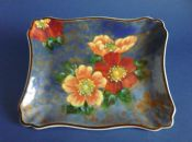 Vintage Royal Doulton 'Wild Rose' Series Art Deco Tray D6227 c1949